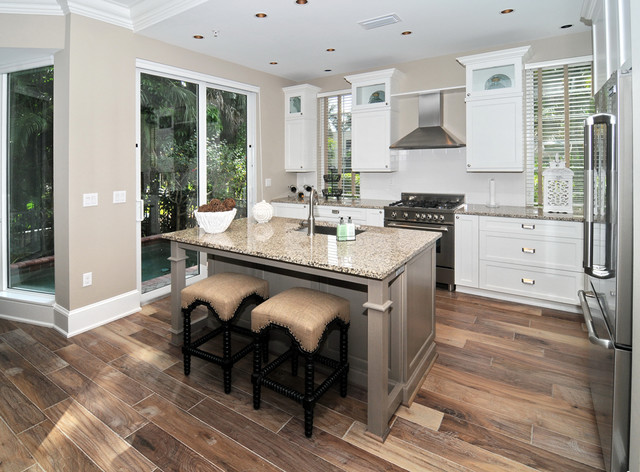 Naples luxury townhome traditional kitchen miami Luxury kitchen flooring