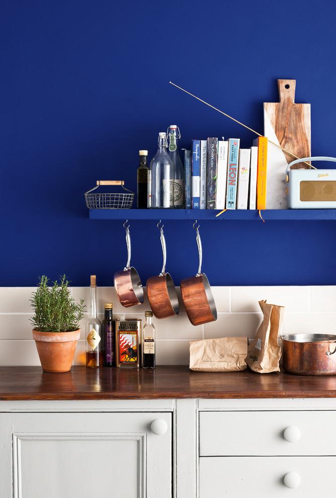 Napoleonic Blue Kitchen By Annie Sloan, Annie Sloan Blue Kitchen Cabinets