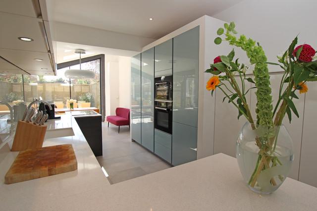 Narrow Kitchen Extension Modern Kitchen