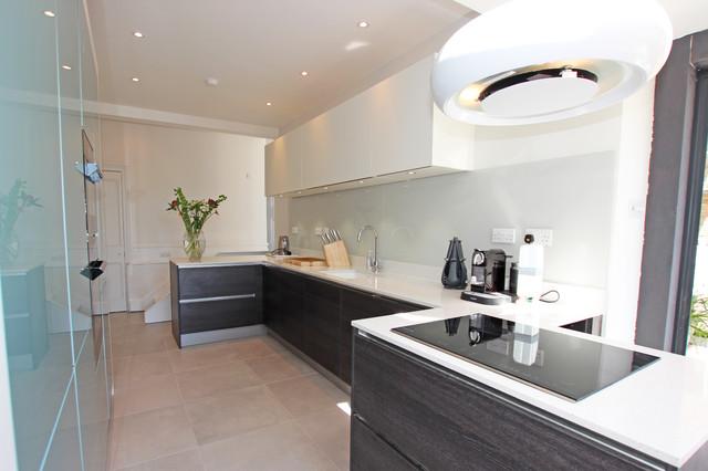 Narrow Kitchen Extension Modern Kitchen London By Lwk Kitchens London