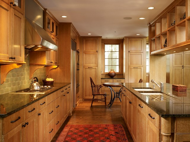 Narrow shotgun house contemporary kitchen chicago for Narrow kitchen cupboards