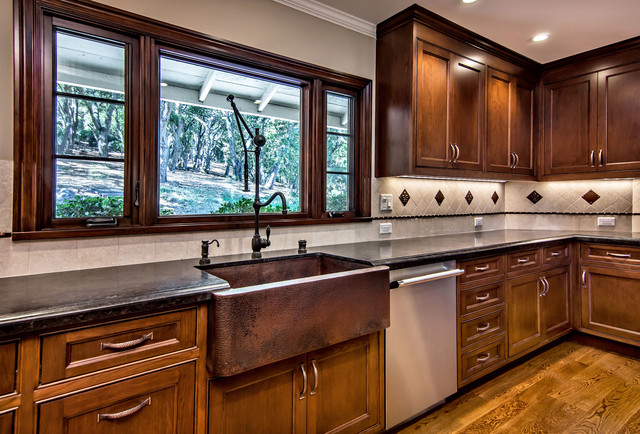 Native Trails Copper Farmhouse Sink  Traditional  Kitchen  san