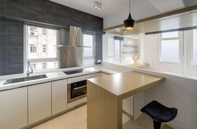 Natural Apartment Contemporary Kitchen Hong Kong By Ample Design