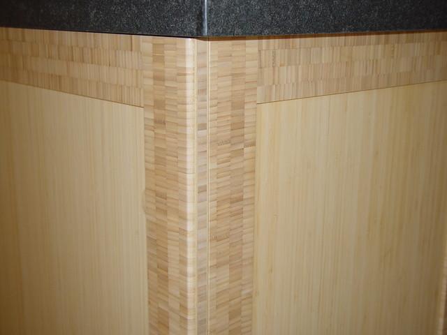 Natural Bamboo Contemporary Kitchen - Orinda (corner detail) contemporary-kitchen