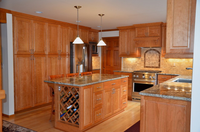 Natural Cherry traditional-kitchen