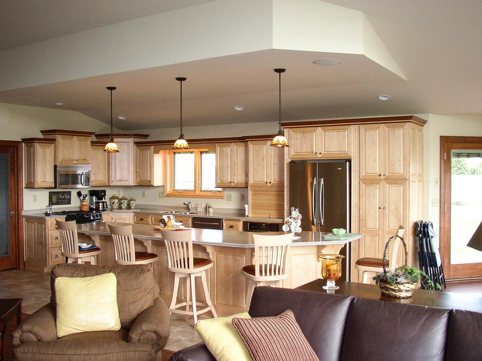 Natural finished Maple kitchen with Alder trim ...
