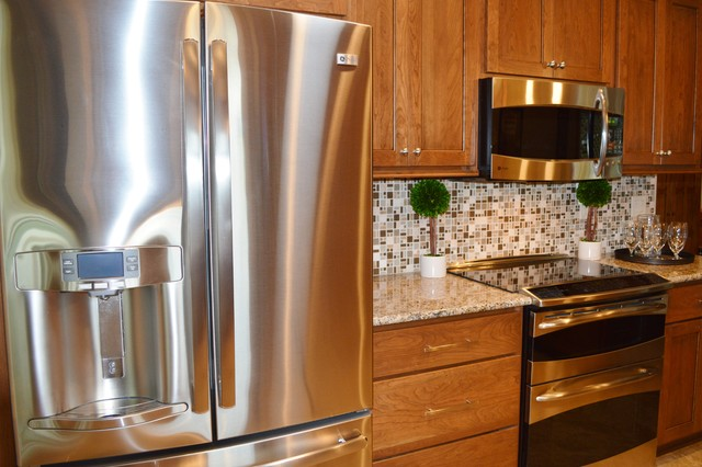 Light shines on a west des moines kitchen remodel traditional kitchen