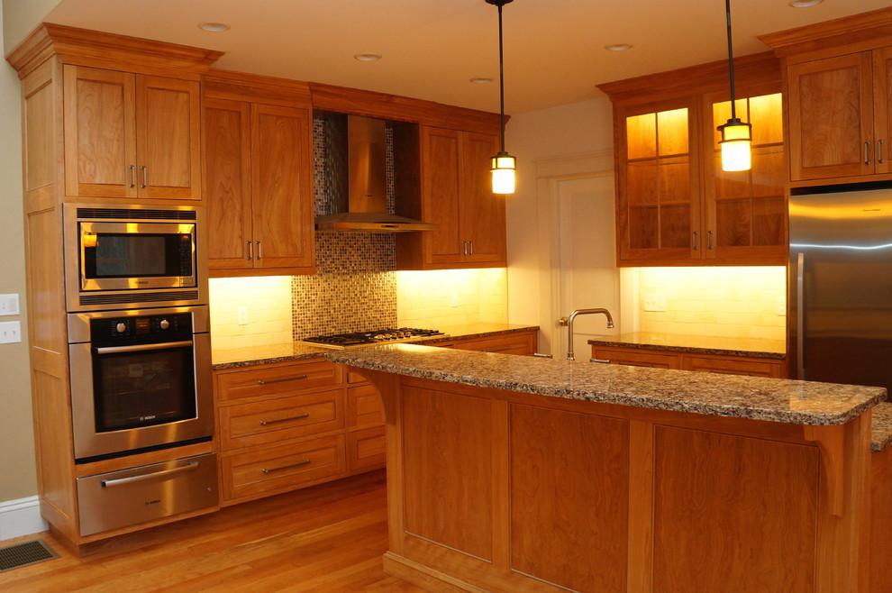 Natural Red Birch Kitchen - Traditional - Kitchen - Boston ...