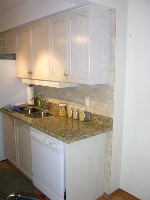 Natural Stone Kitchen Backsplash traditional-kitchen