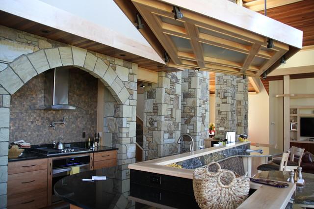 Stone Pillar Arch : Natural stone pillars arch kitchen other by sivak