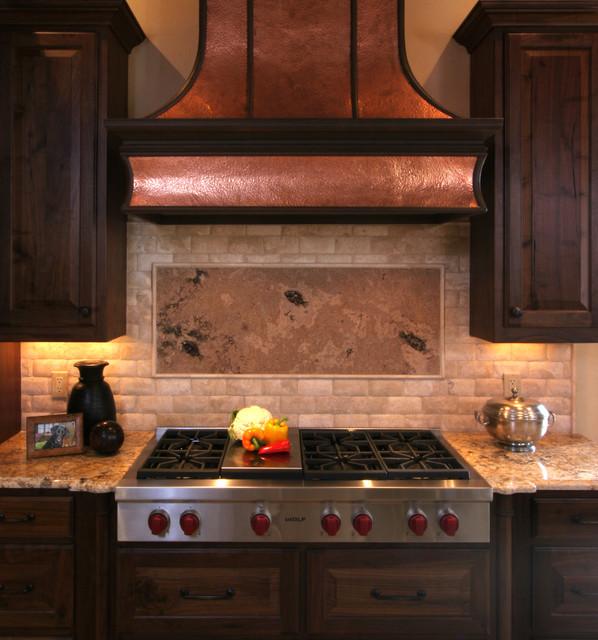 Natural Tuscan Inspired Kitchen - Range Detail traditional-kitchen