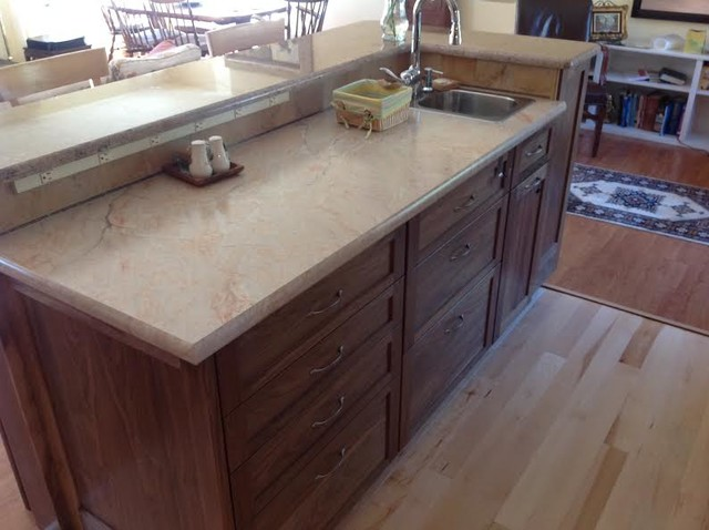 Natural Walnut Kitchen - Transitional - Kitchen - denver - by The ...