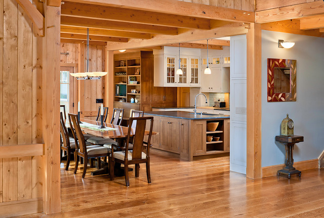 Natural White Oak Kitchen Wood Flooring Traditional