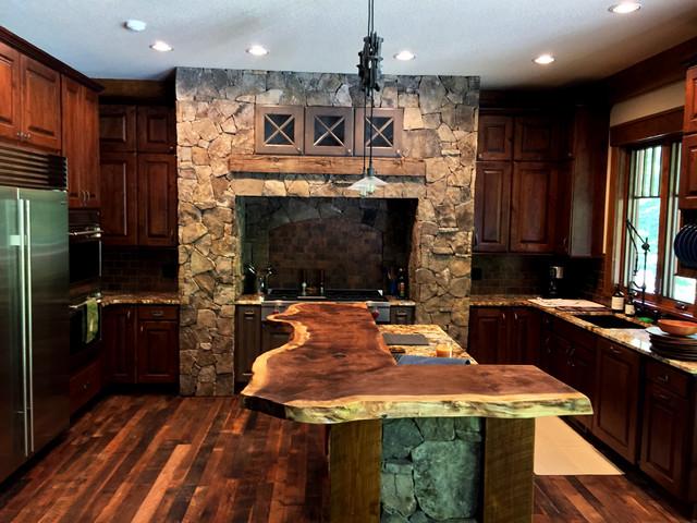 Natural Wood Countertops Rustic Kitchen Nashville By Littlebranch Farm