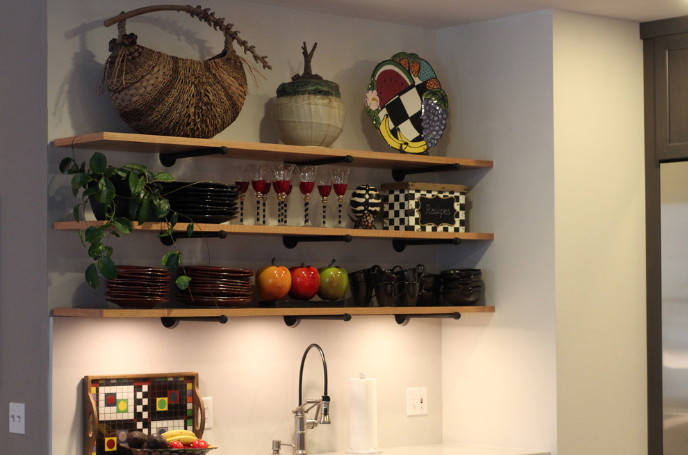 natural wood floating shelves with texture on pipe fittings denise quade design img 2f71e89f07a1222b 9 8442 1 c6372ab