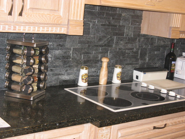 Stone Veneer Backsplash : Naturals stone veneer backsplashes contemporary