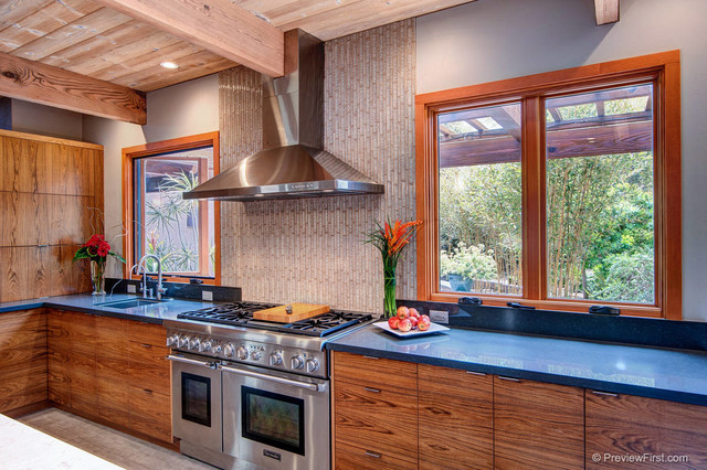 Nature Inspired Kitchen In Encinitas Asian Kitchen San Diego By Fdk Design