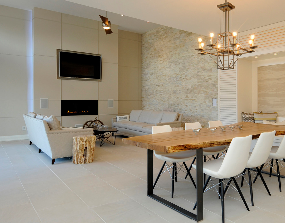 Nature Inspired Living And Dining Room Modern Kitchen Toronto By Realstone Systems