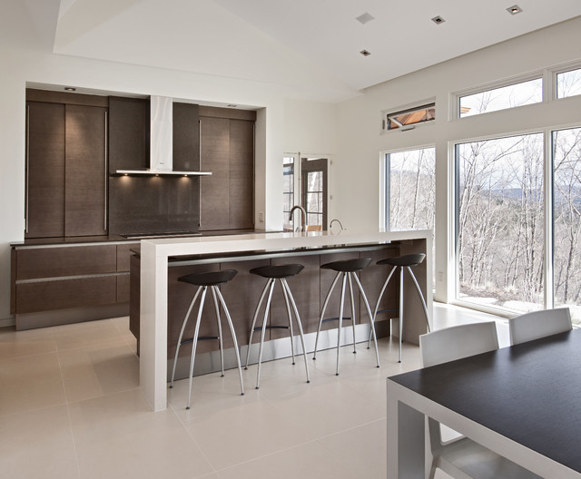 Nature's Drama: Laurentian Long House contemporary-kitchen