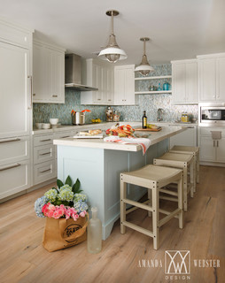 Nautical beach condo beach style kitchen jacksonville by amanda webster design Kitchen design gallery beach boulevard jacksonville fl