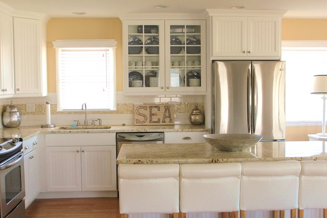 Nautical beach house beach style kitchen other metro for Nautical kitchen designs