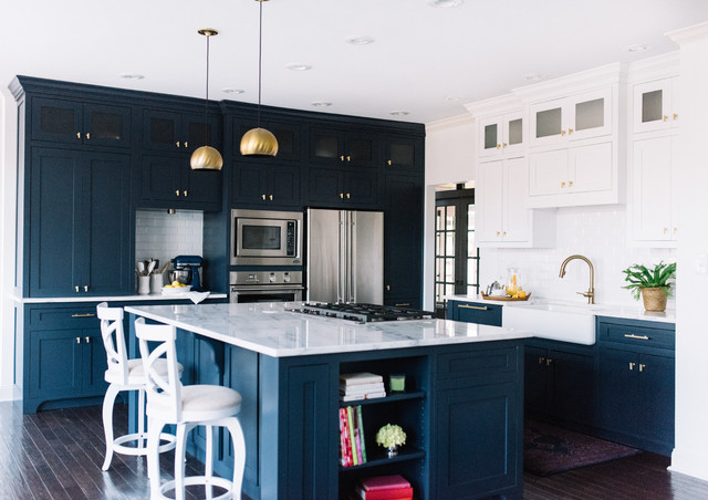 Captivating Navy Blue Kitchen Design, Alexandra Lauren Interior Design, Jackson,  Tennessee Contemporary Kitchen