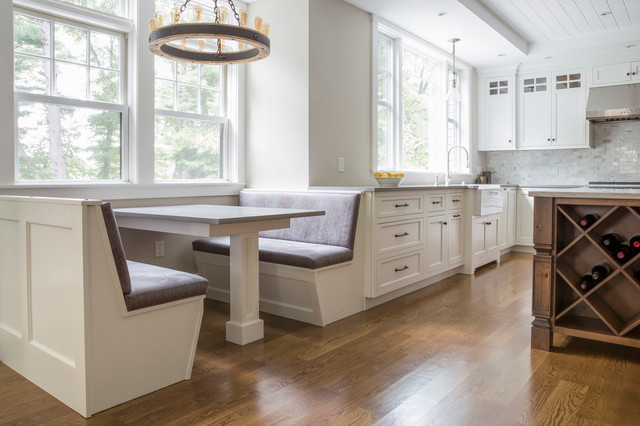 Needham Pond House Kitchen Farmhouse Kitchen Boston by Creative Build