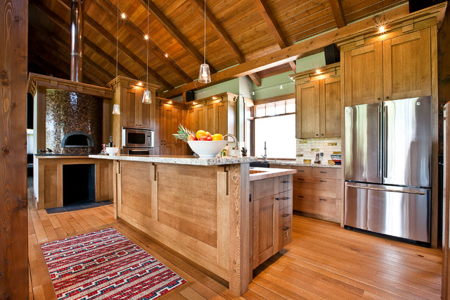 Neo Craftsman in a Country Home traditional-kitchen