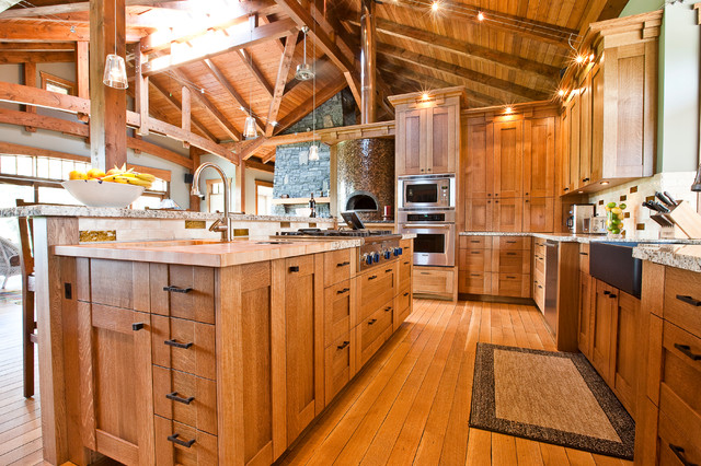 Neo Craftsman In A Country Home Craftsman Kitchen Calgary By River City Woodworks