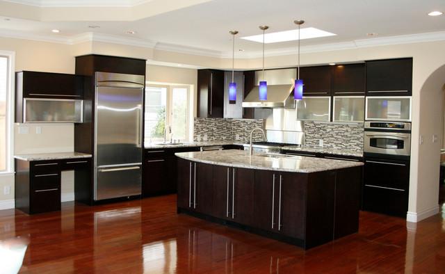Neo espresso contemporary kitchen for c m sunnyvale for Kitchen designs espresso cabinets