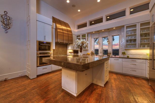 Neo-Prairie Style Parade Home - Transitional - Kitchen ...