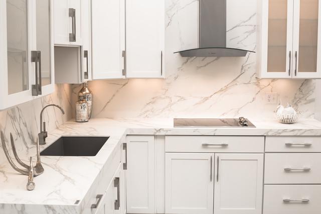 Superb Neolith Calacatta (Silk Finish) Kitchen Contemporary Kitchen