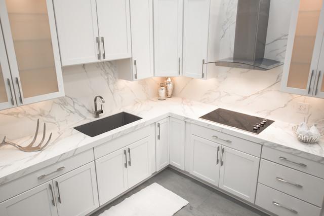 Neolith Calacatta Silk Finish Kitchen Contemporary Richmond By Marva Marble Granite Inc