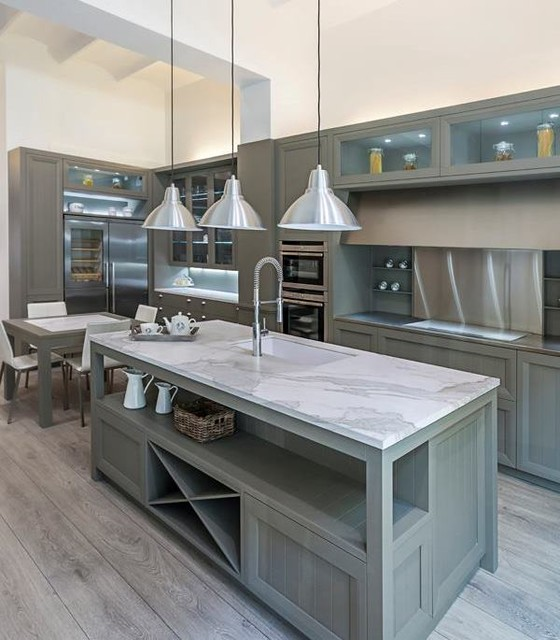 Contemporary Kitchen Counters: NeoLith Kitchen & Bath Surfaces & Countertops