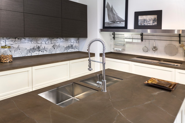 Neolith Kitchen Lounge Transitional Kitchen