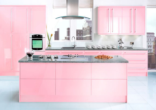 contemporary kitchen Color of the Month: Decorating with Pink