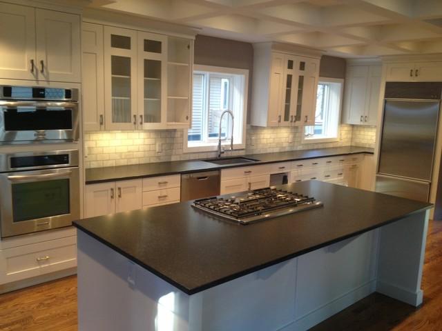 Nero Assoluto Leather Finish Granite Rustic Kitchen