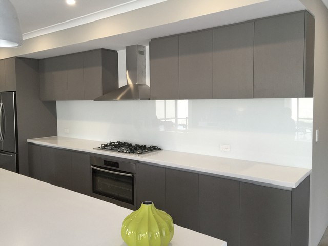 Neutral Kitchen Glass Splashbacks Modern Kitchen