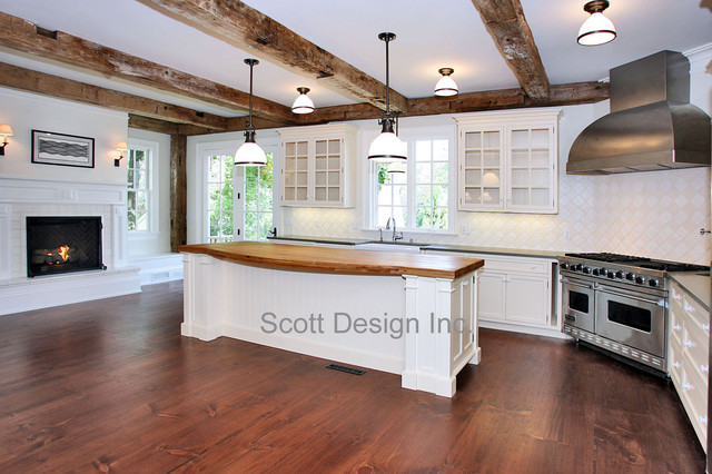 New 1850u0027s Greek Revival Farmhouse Farmhouse Kitchen
