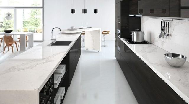 New calacatta nuvo minimalistisch küche toronto von