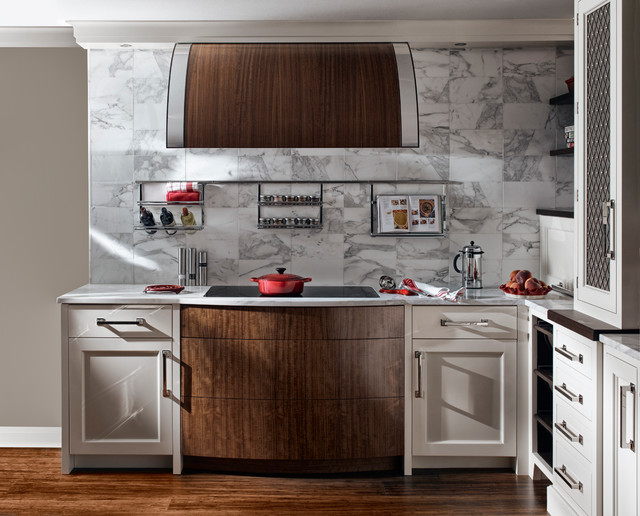 New America eclectic kitchen