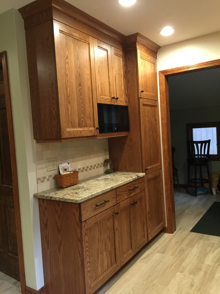 New bank of cabinets - Durham CT Kitchen Remodel - Rustic ...
