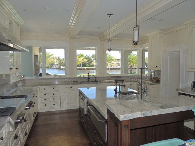 New British West Indies Style Renovation Traditional Kitchen