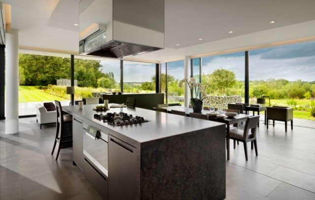 New Build House Berkshire Contemporary Kitchen London By Gregory Phillips Architects