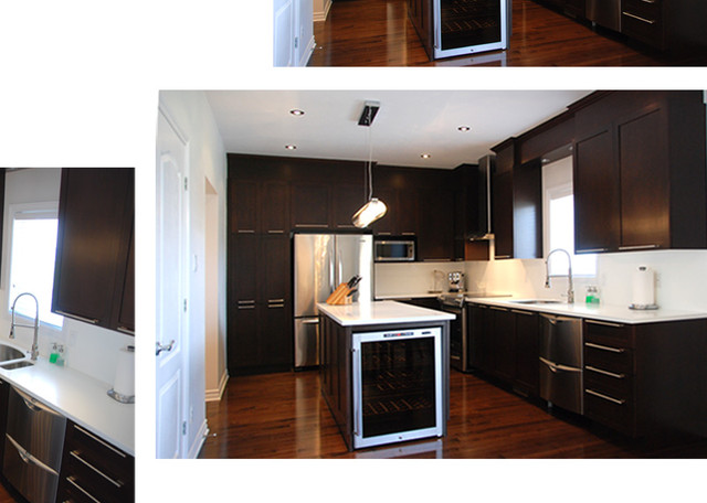 New build, Pierrefonds contemporary-kitchen