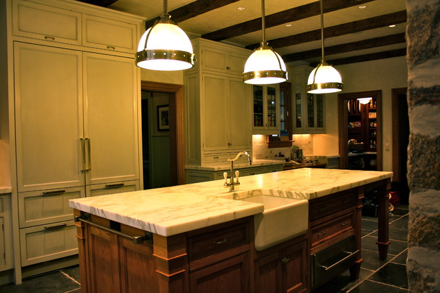 New Canaan Ct Traditional Kitchen New York By La Pietra Tile Stone
