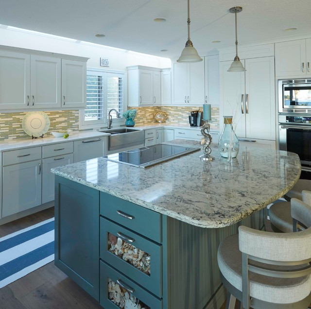 How to make your kitchen countertop appear to be floating for Kbr kitchen and bath