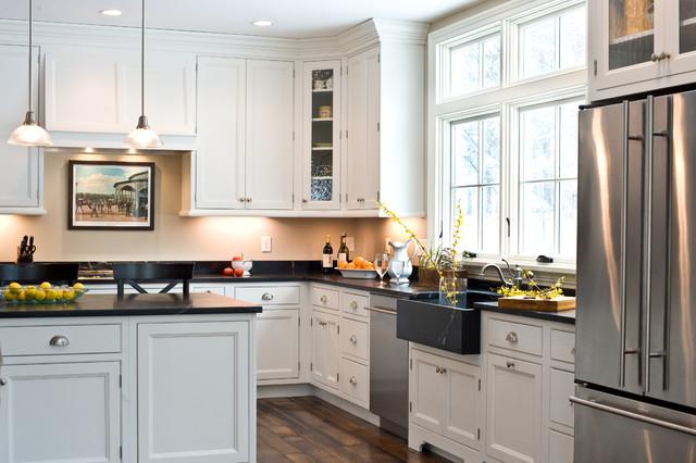 New Construction Kitchen Cabinets Installation Transitional Kitchen Boston By