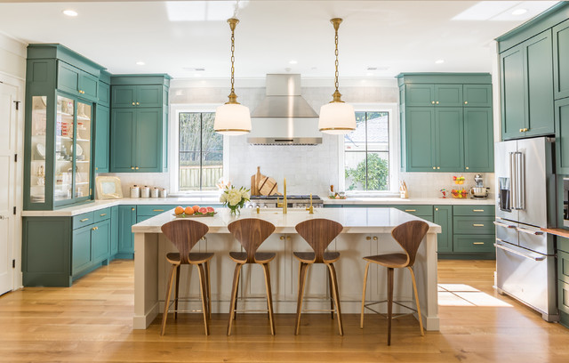exciting green kitchens white cabinets | Is This the Year Blue and Green Kitchen Cabinets Edge Out ...