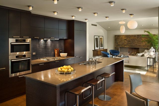 New contemporary home and property contemporary for Kitchen design houzz